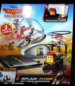 Disney PLANES Fire /& Rescue Riplash Flyers RIP N RESCUE HEADQUARTERS Playset NEW