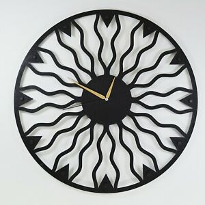 Abstract Metal Wall Art Clock Modern Wall Clock Metal Round Wall Clock Black Ebay