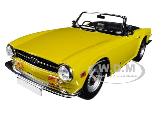 1973 TRIUMPH TR6 CONVERTIBLE LHD YELLOW 1/18 DIECAST CAR BY MINICHAMPS 155132034
