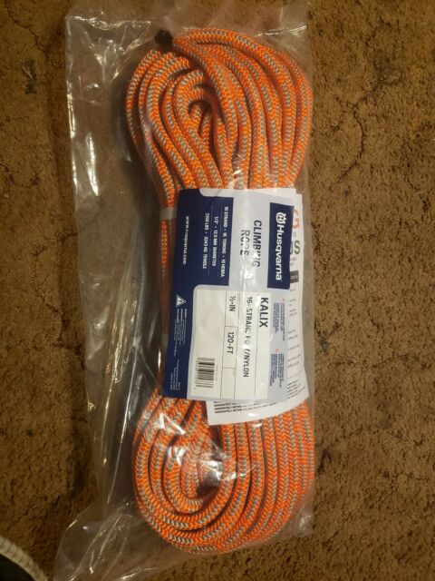 Yale XTC-16 Fire 16 Strand Tree Climbing Rope With Spliced Eye