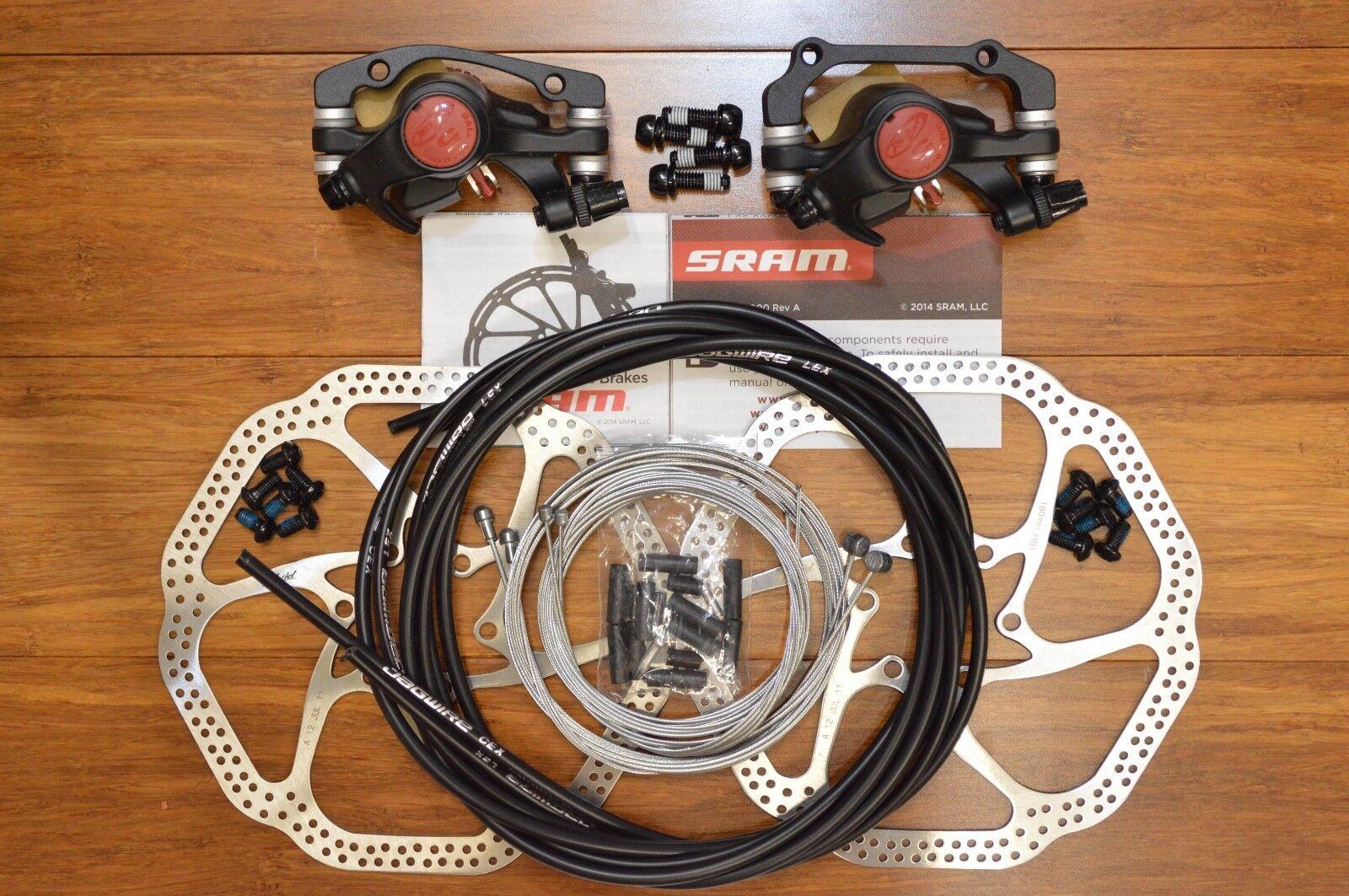 Avid BB5 Disc Brake F&R 2PC Avid Heat Shedding HS1 Rotoren OEM Jagwire Kit