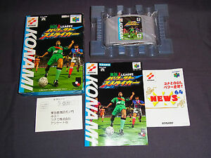 Nintendo-64-JAPAN-Import-N64-JP-Boxed-J-LEAGUE-PERFECT-STRIKER-Games