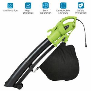 7.5 Amp 3-in-1 Electric Leaf Blower Home Vacuum Mulcher 6 Speeds 170MPH