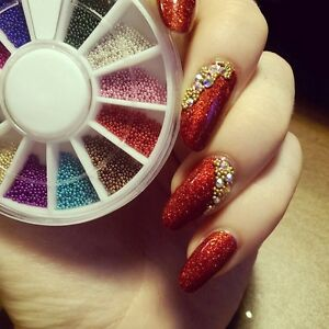 Image Is Loading 12 Color Diy Micro Beads Nail Caviar Manicure