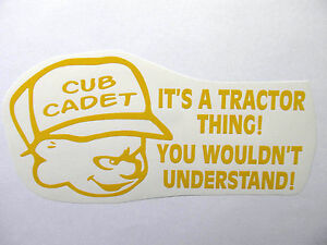CUB-CADET-thing-decal-MOWER-tractor-pull-pulling-STICKER-trailer-parts-NEW