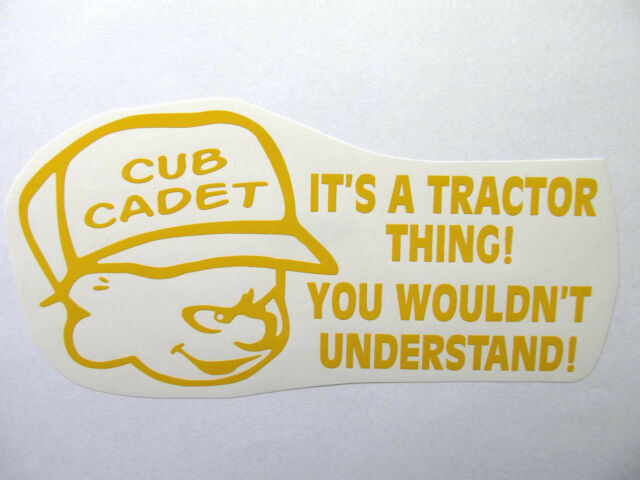 CUB CADET thing decal MOWER tractor pull pulling STICKER trailer parts NEW