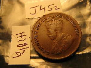 Canada 1929 Rare High 9 Variety High Grade Beautiful Small Cent Penny.