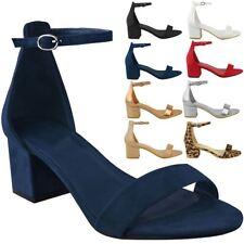 ba8a8b59636715 item 2 Womens Ladies Low Block Heel Black Sandals Ankle Strap Work Smart  Shoes Size -Womens Ladies Low Block Heel Black Sandals Ankle Strap Work  Smart Shoes ...