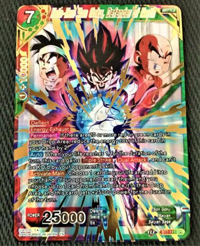 Kaio-Ken Son Goku Defender of Earth BT7-111 SPR Dragon Ball Super TCG NEAR MINT