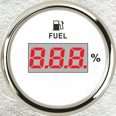 Fuel Level Gauge,0-90ohms,Black,12V//24V,Oil Tank Level,2/'/'//52mm Universal E-F