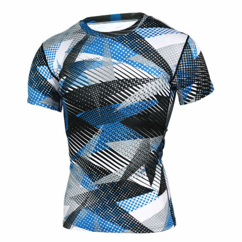 Mens Compression Skinny Base Layer Tops Short//Long Sleeve Fitness Sports T-Shirt