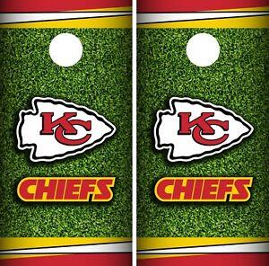 Kansas City Chiefs Field Cornhole Wrap Nfl Game Skin Board