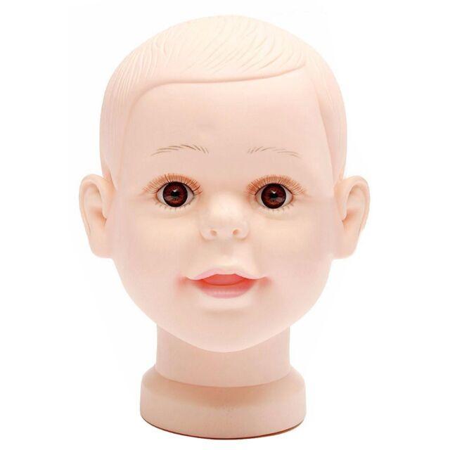 Children mannequin baby dolls shop window dolls head cap glasses O4L4