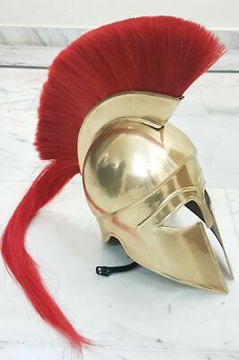 Medieval Greek Corinthian Helmet Vintage Armor Larp Golden