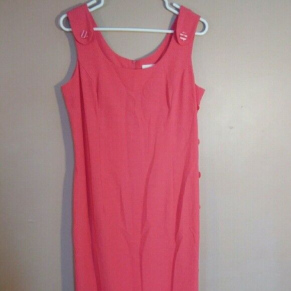 Kathie Lee Collection damen 8 Rosa Sleeveless Maxi Dress with Button Details