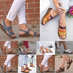 Women Low Heel Open Toe Sandals Cork