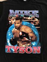 Vintage 90s Mike Tyson Evander Holyfield Ear Promo Double Sided T Shirt Goldan @