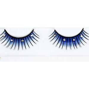 1Pair-Blue-And-Black-Rhinestoned-False-Eyelash-For-Beauty-Party-Stage-Eye-Makeup