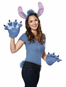 Deluxe Stitch ADULT Costume Accessory Kit One Size Ears Tail Gloves