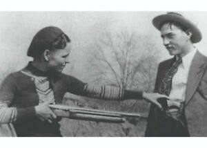 Bonnie & Clyde with Shotgun, vintage photo reproduction High quality 077