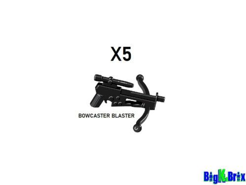 x5 Lot BOWCASTER BLASTER for Star Wars Lego Minifigure