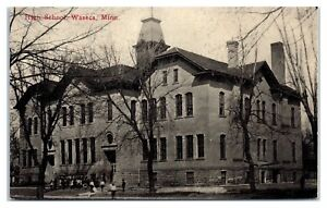 Early-1900s-High-School-Waseca-MN-Postcard