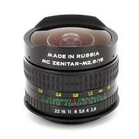Zenitar 16mm F/2.8 Fisheye Fish Eye Lens For Nikon Slr Dslr Camera, Free Us Ship