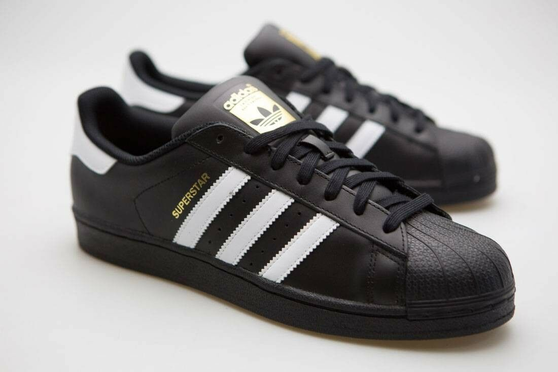 Nuevo adidas Superstar Foundation Negro Negro Core Hombre Negro Foundation Blanco Zapatos Run DMC B27140 67f9d3