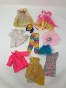 Vintage Barbie Doll Clothes Bundle Collectors Dress Trousers Yellow Pink Ebay