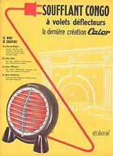 Publicité Calor Le Soufflant Congo  photo vintage  ad  1954 -3j
