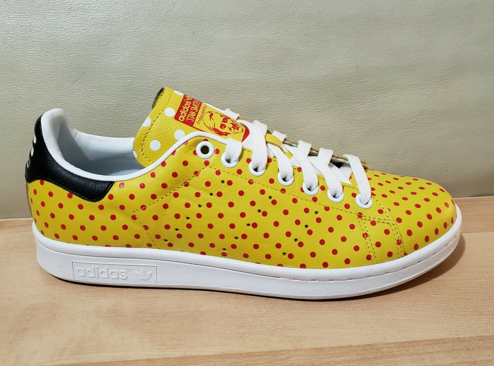 Mens ADIDAS X Pharrell WILLIAMS Stan Smith SPD Polka Dot PW B25402 Athletic shoes