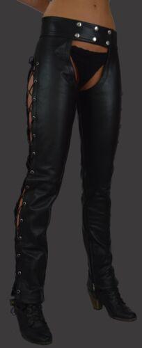 Awanstar Lederhose 44 801 IN PELLE CHAPS GAMBALI DA DONNA//Leather Chaps cuir femme
