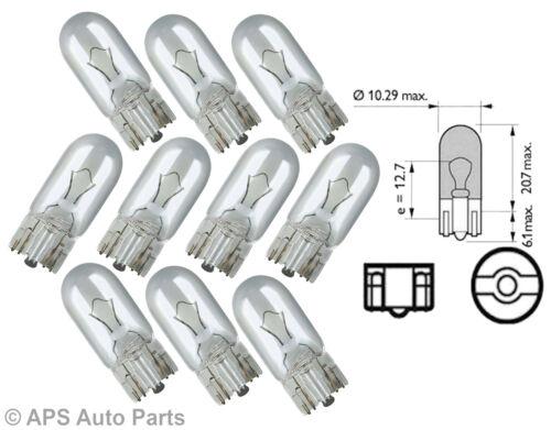 SIDE LIGHT OR TAILLIGHT SIDELIGHT CORNER NUMBER PLATE LIGHT BULB 501 12V 5W x 10