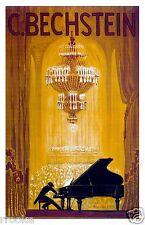 C Bechstein Pianos Advertisement Poster Fine Art Print Concert Pianist Musician