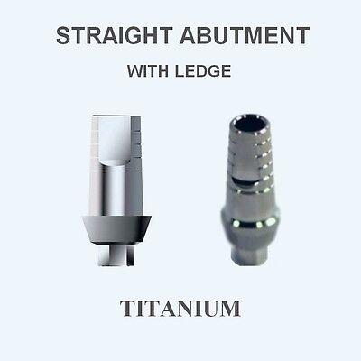 10x Dental Titanium Abutments STRAIGHT & SHOULDER for Hex implant system  $128