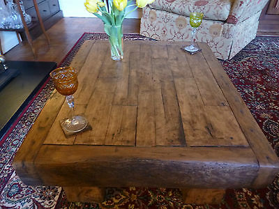 Handcrafted, Rustic coffee table made form reclaimed HARDWOOD timber!