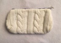 Sisley Cable Knit Sweater Cosmetic Makeup Case Bag