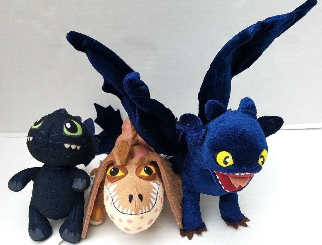 DreamWorks Dragons How to Train Your Dragon Toothless Night Fury Gronkle Meatlug