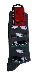 Border-Collie-Dog-and-Sheep-Unisex-Novelty-Ankle-Socks-Adult-Size-6-11
