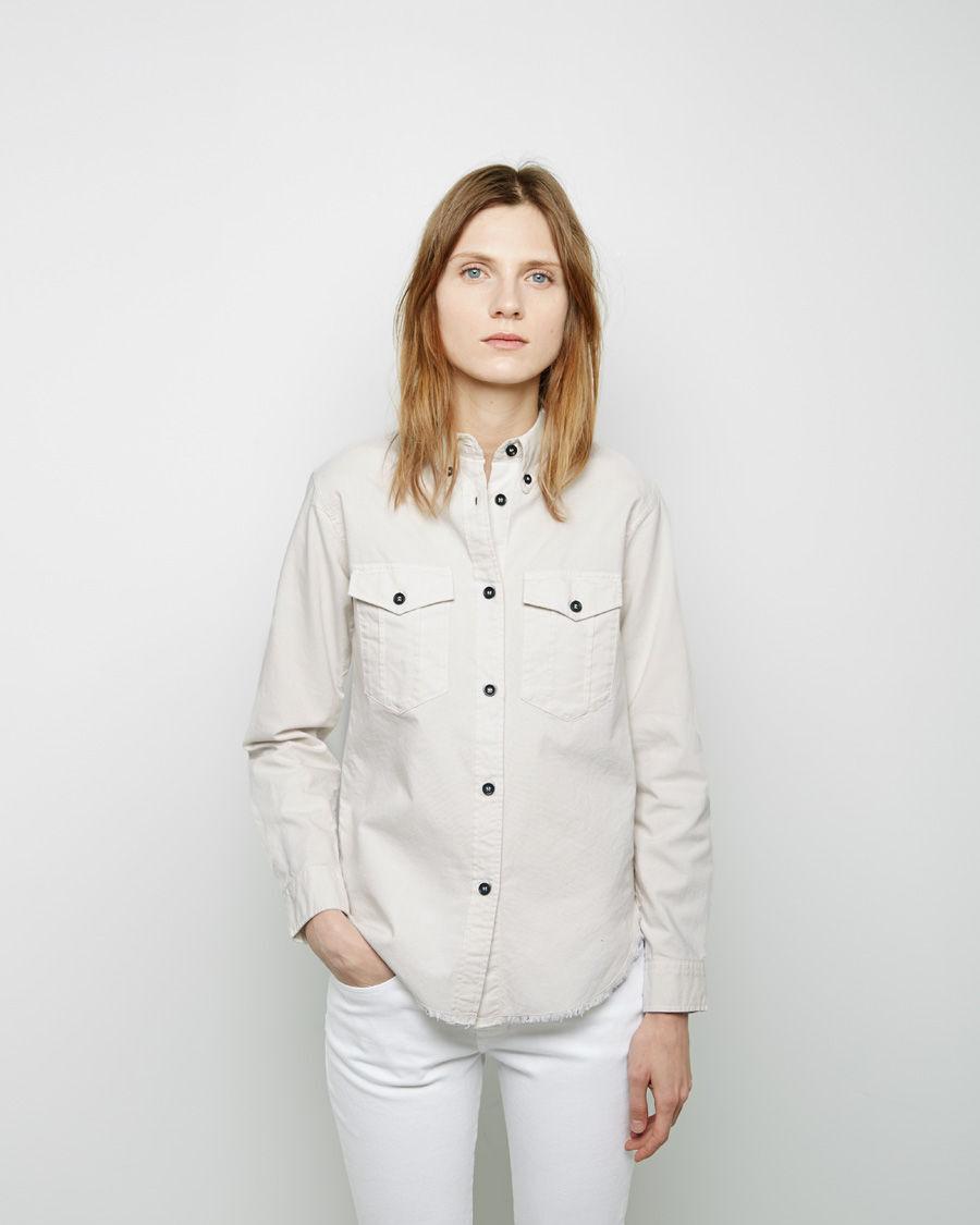 ISABEL MARANT Bastien Easy Safari Shirt Chalk Ivory Off-Weiß Ecru