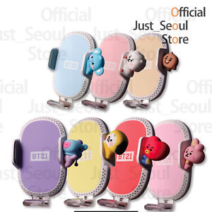 Official BTS BT21 Fast Car Wireless Air Vent Mount Phone Charger +Freebie