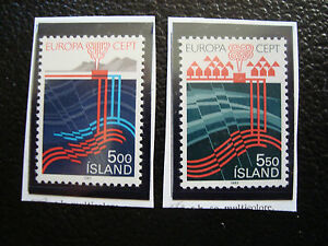 Iceland-Stamp-Yvert-and-Tellier-N-551-552-N-A22-Stamp-Iceland