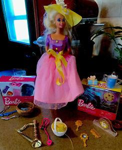 Vintage-Springtime-Avon-Barbie-Doll-Used-New-Kitchen-Dollhouse-Food-Blue-Birds