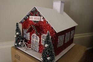 Nwt Pottery Barn Kids Light Up Glitter School House