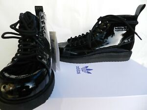 Details about Adidas superstar 41 shoes sneakers boot ankle boots patent leather uk7 new- show original title