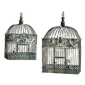 ORE International 88016 Metal Decorative Bird Cage (Set of 2)
