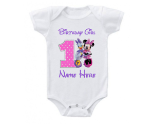 528bbb950 Image is loading Minnie-Mouse-Daisy-1st-Birthday-Onesie-Shirt-Personalized