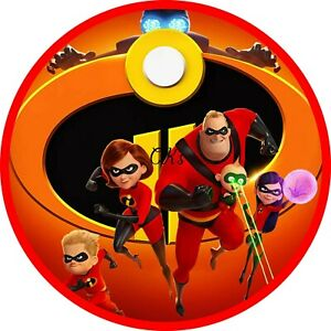 Incredibles 7 Inch Edible Image Cake & Cupcake Toppers ...
