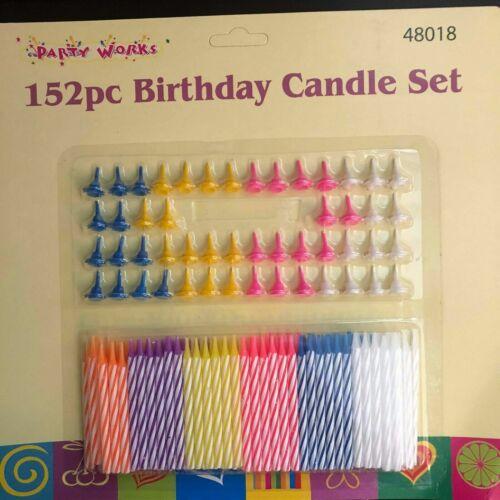 152 BIRTHDAY CANDLE-HOLDER SET PARTY CELEBRATION CAKE DECORATING CANDY