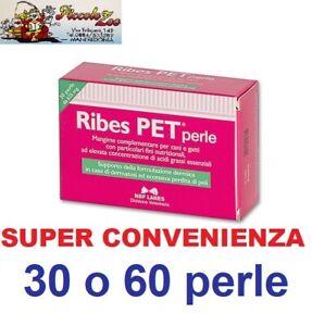 Ribes-Pet-cane-gatto-30-o-60-perle-cibo-complementare-supporto-funzione-dermica